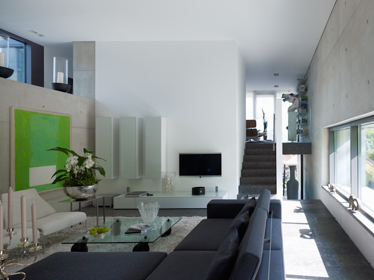 Living room by PaulBretz Architectes, Minimalist