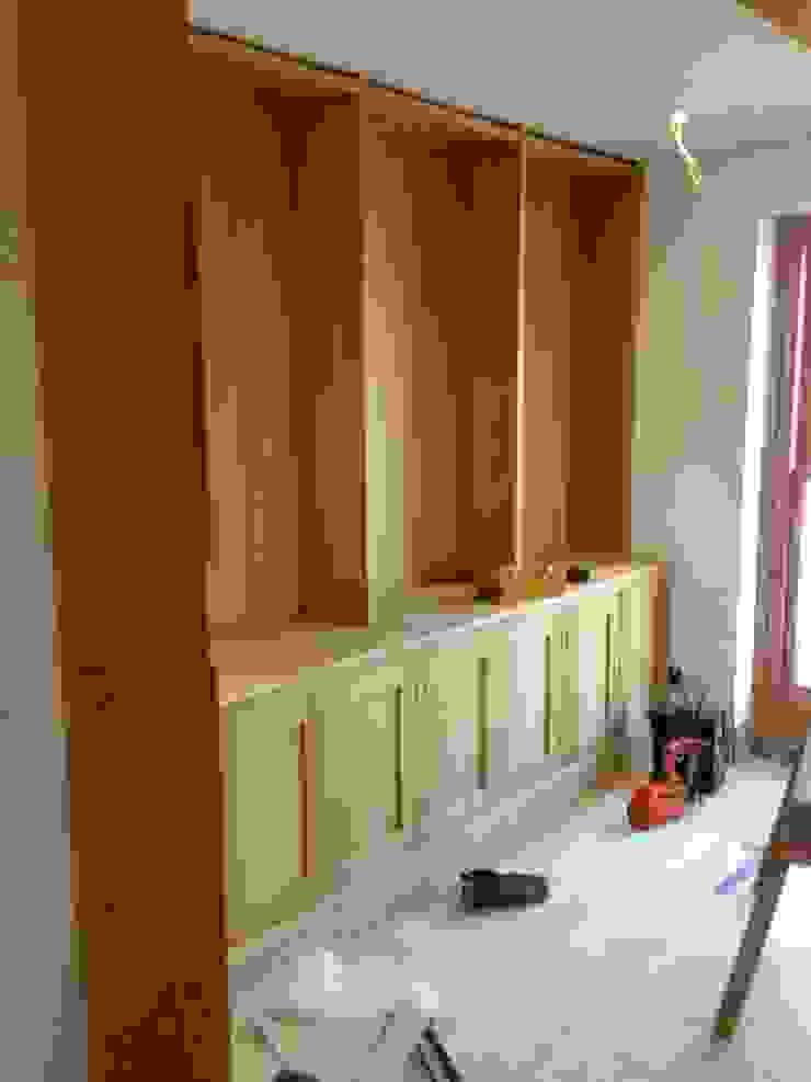 Bespoke kitchen cupboards starting to take shape. by Design by Deborah Ltd
