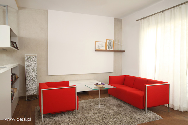 Mieszkanie w Poznaniu Minimalistyczny salon od Dessi Minimalistyczny