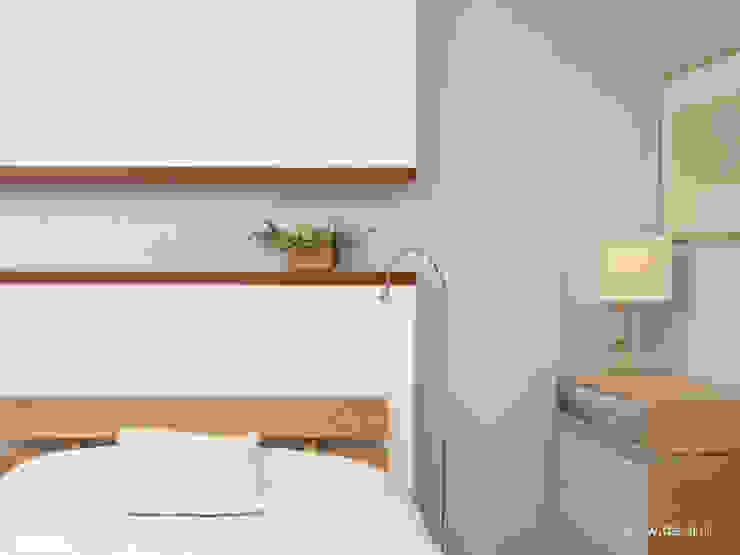 Mieszkanie w Poznaniu Minimalistyczna sypialnia od Dessi Minimalistyczny