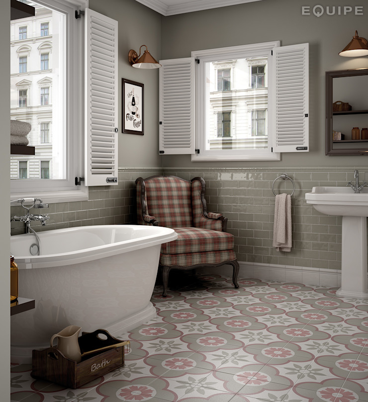 Equipe Ceramicas Rustic style bathroom