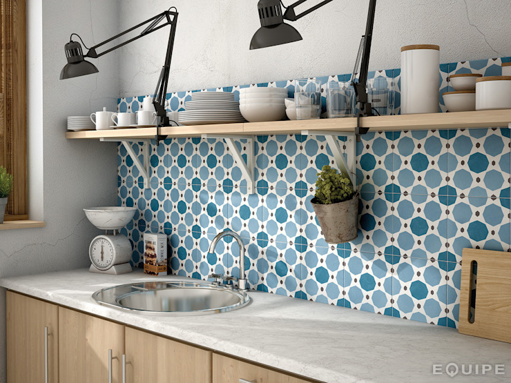 Rustic style kitchen by Equipe Ceramicas Rustic