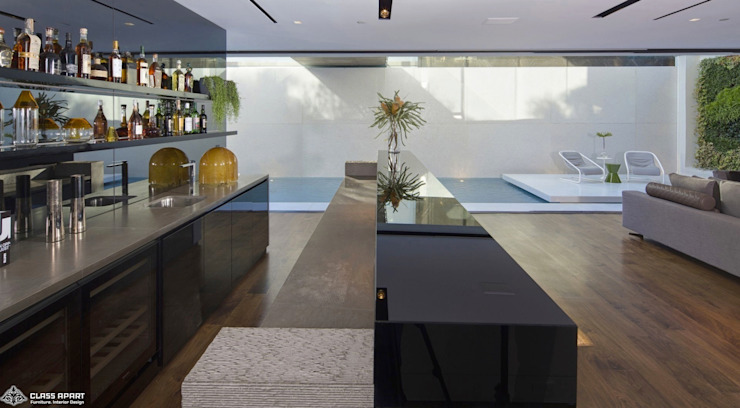 private residence -dramatic glass home Modern wine cellar by CLASS APART (furniture.interiordesign) Modern