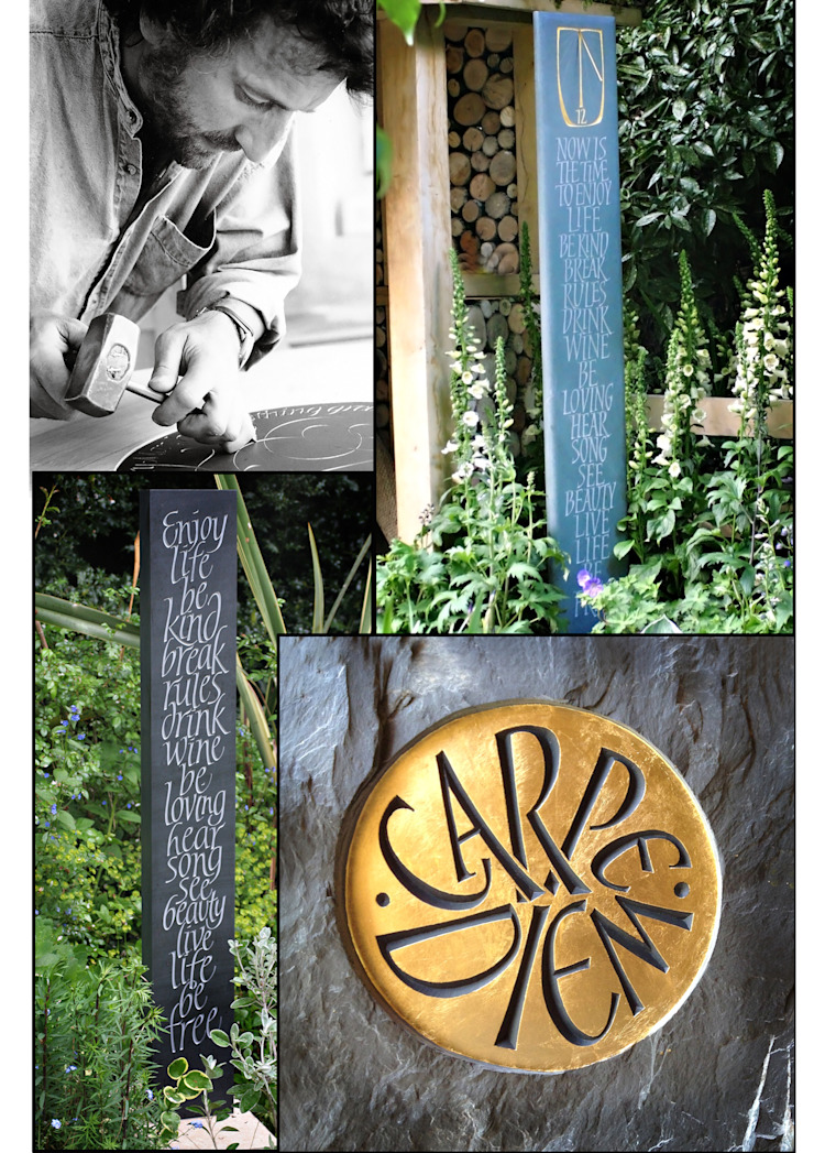 Standing stone and standing sundials for private gardens Eclectic style garden by Martin Cook Studio Eclectic