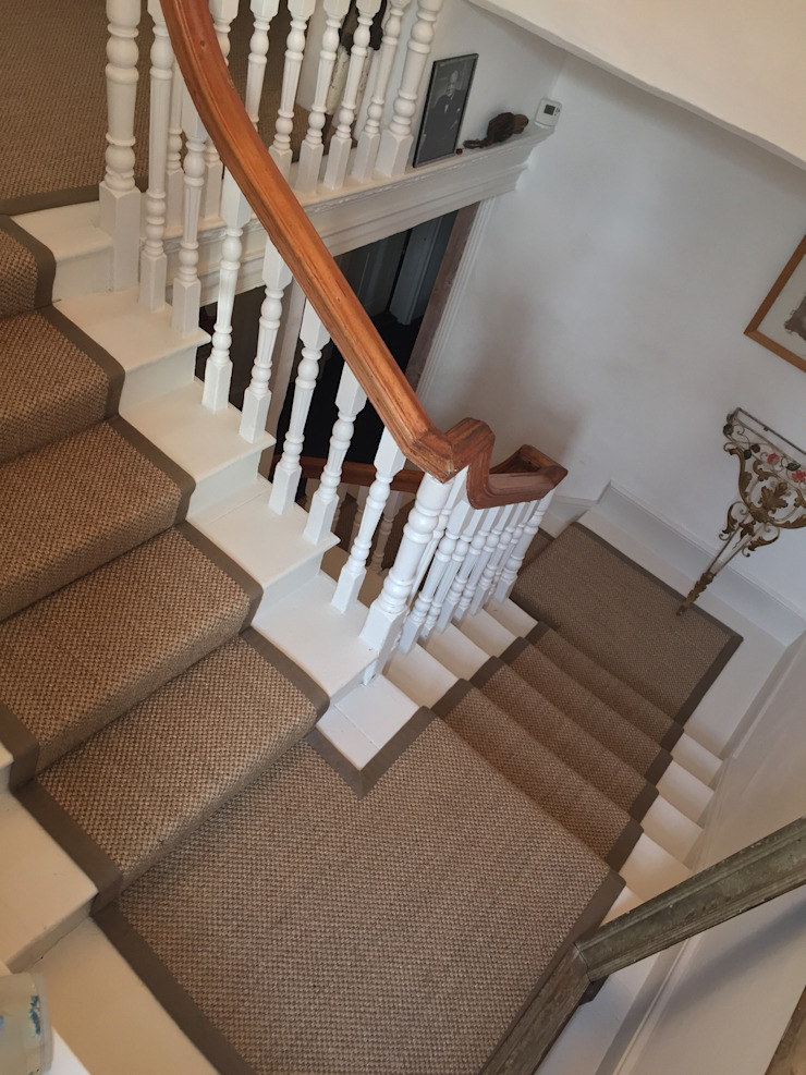 Sisal Babylon Bark Classic style corridor, hallway and stairs by Sisal & Seagrass Classic
