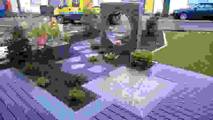 Balkon, Beranda & Teras Gaya Asia Oleh Neues Gartendesign by Wentzel Asia