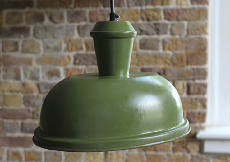 Green Oval Retro Pendant Light: industrial  by NuCasa, Industrial