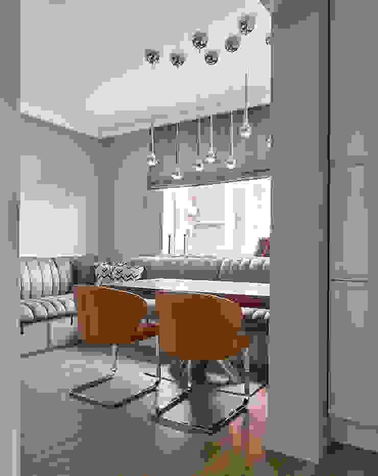 Дизайн квартиры в Москве / ул. 9 Мая Столовая комната в скандинавском стиле от Бюро TS Design Скандинавский