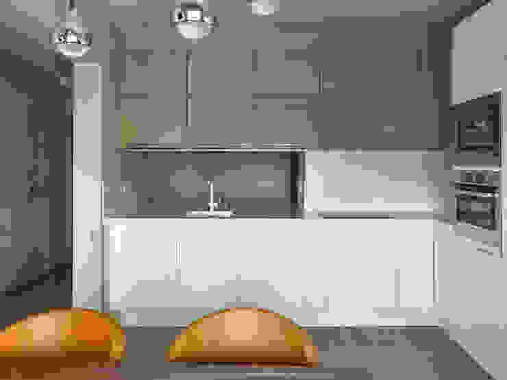 Дизайн квартиры в Москве / ул. 9 Мая Кухня в скандинавском стиле от Бюро TS Design Скандинавский