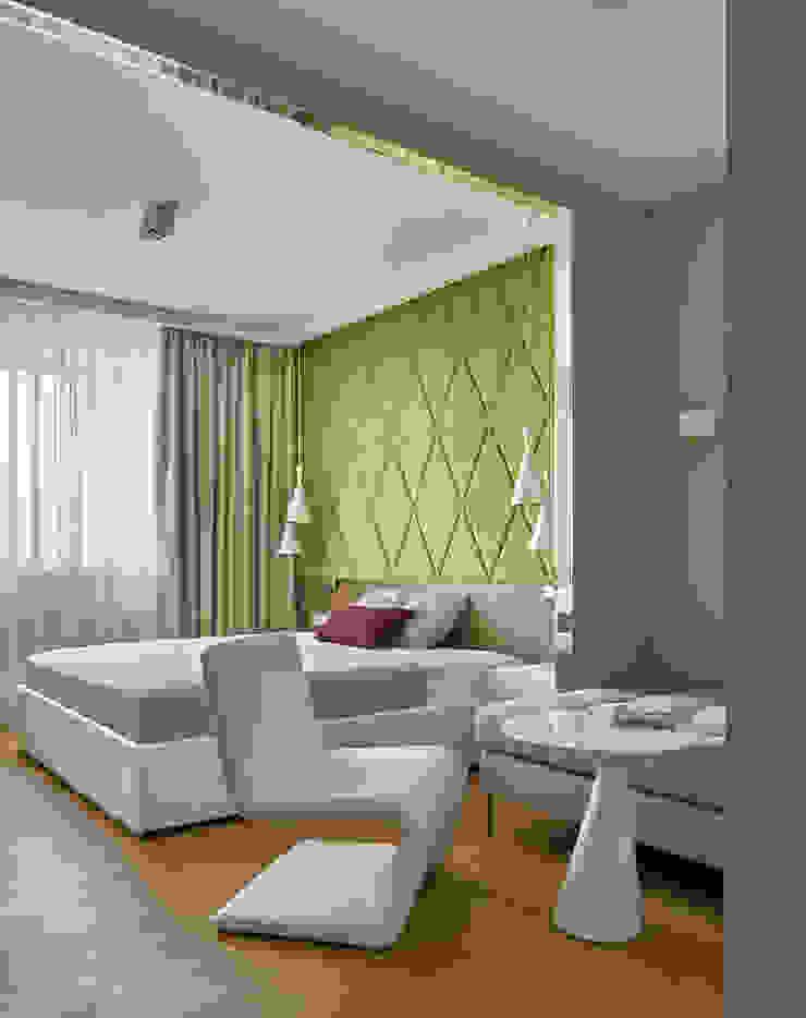 Дизайн квартиры в Москве / ул. 9 Мая Спальня в скандинавском стиле от Бюро TS Design Скандинавский