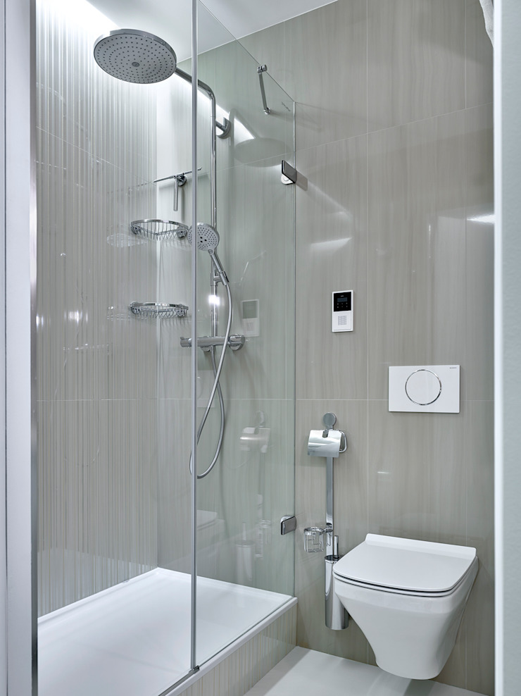 Дизайн квартиры в Москве / ул. 9 Мая Ванная комната в скандинавском стиле от Бюро TS Design Скандинавский