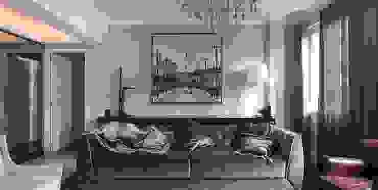 Kali Arquitetura Salones de estilo moderno