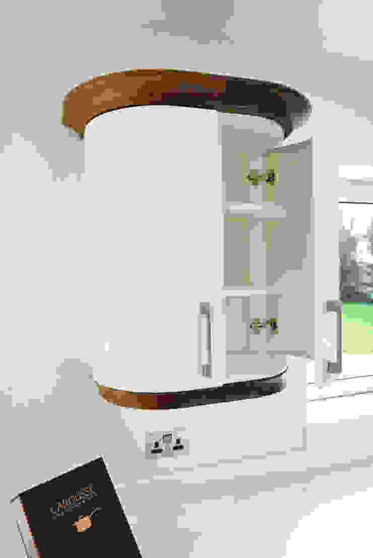 Mr & Mrs Broomhead Walnut & White Gloss Kitchen Room Modern Kitchen