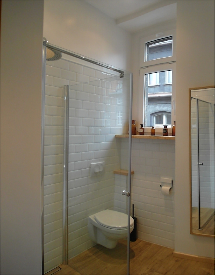 Łazienka retro Klasyczna łazienka od NaNovo Klasyczny