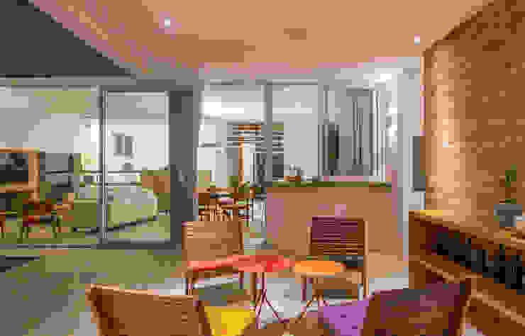 Residência Parque dos Príncipes Varandas, alpendres e terraços modernos por Nautilo Arquitetura & Gerenciamento Moderno