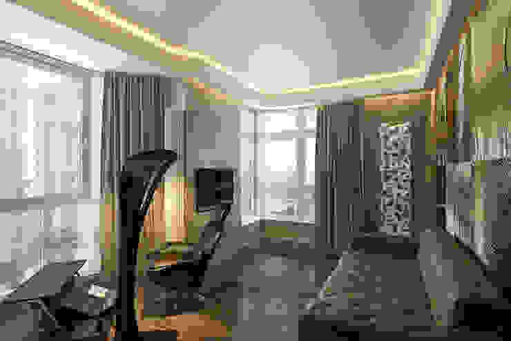 Футуристическая квартира в Москве Рабочий кабинет в стиле модерн от Cтудия дизайна Станислава Орехова Модерн
