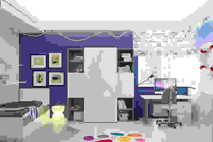 Футуристическая квартира в Москве Детская комната в стиле модерн от Cтудия дизайна Станислава Орехова Модерн