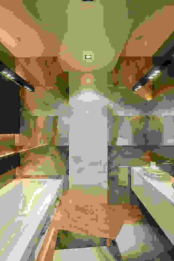 Футуристическая квартира в Москве Ванная комната в стиле модерн от Cтудия дизайна Станислава Орехова Модерн