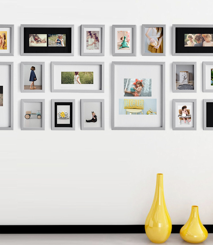 PHOTOWALL GALLERY FRAME 10P SET - Light Gray 2Set: A.MONO Co,.LTD.의 현대 ,모던