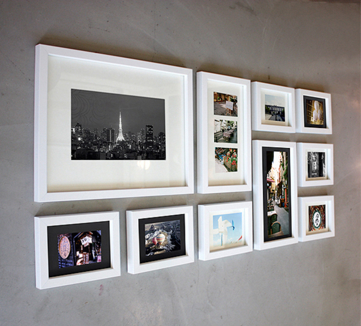 PHOTOWALL GALLERY FRAME 10P SET—White: A.MONO Co,.LTD.의 현대 ,모던