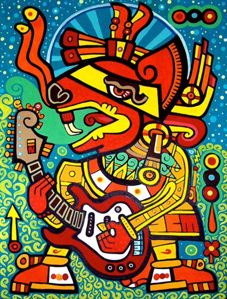 Huehuecoyotl Blues de Jimmy Carbo Moderno