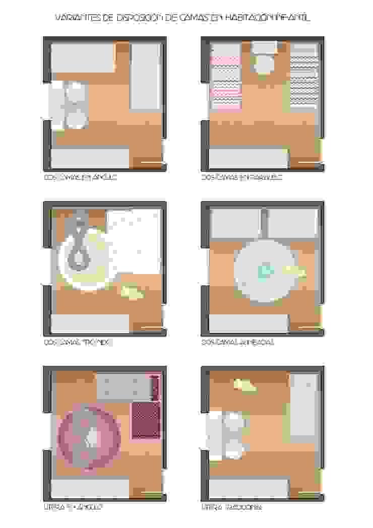 Ideas útiles para amueblar una habitación infantil compartida Dormitorios infantiles de estilo moderno de MRN Moderno