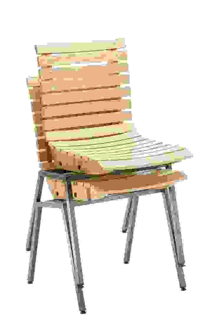 Stapelbare stoel T Huis Industriële gastronomie van Design X Ambacht Industrieel
