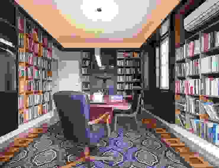 Kali Arquitetura Ruang Studi/Kantor Modern