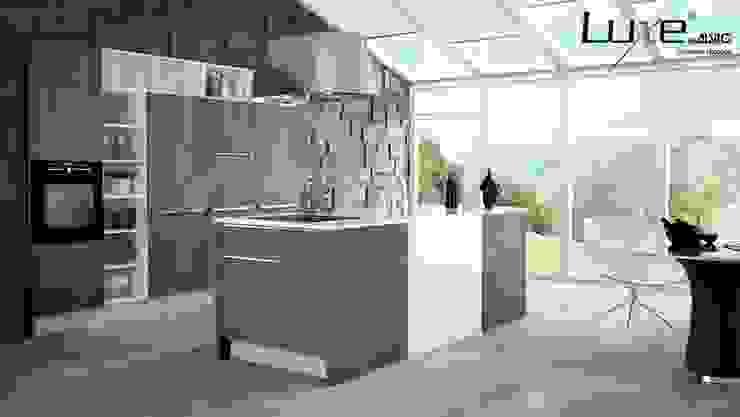 Cocina Syncron y alto brillo Luxe by Alvic Cocinas de estilo moderno de ALVIC Moderno
