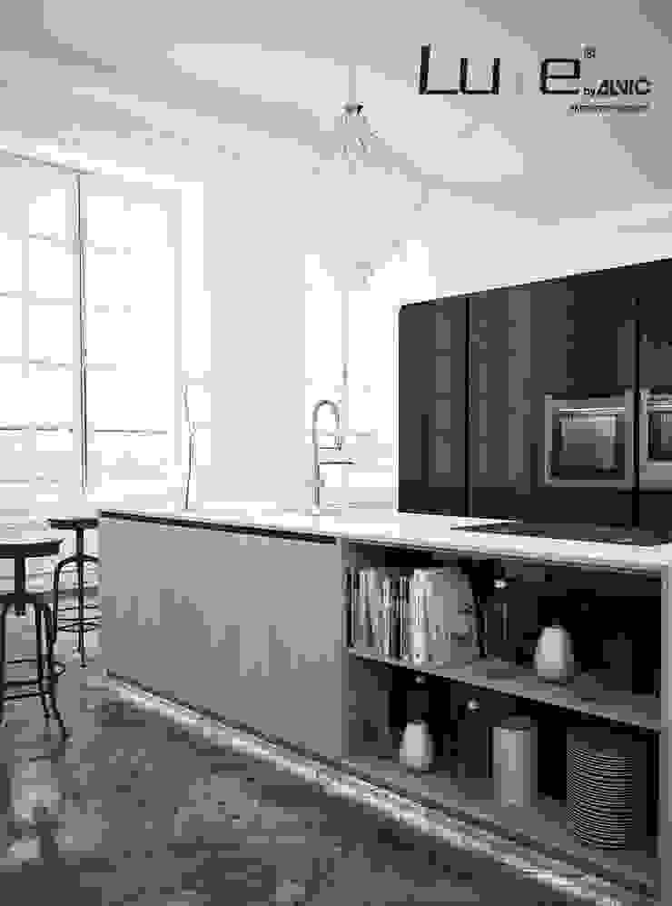 Cocina Syncron y acabado Pearl Effect de Luxe by Alvic Cocinas de estilo rústico de ALVIC Rústico