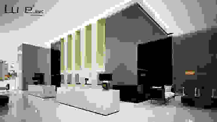 Aplicación vertical de paneles Luxe by Alvic. Hoteles de estilo moderno de ALVIC Moderno