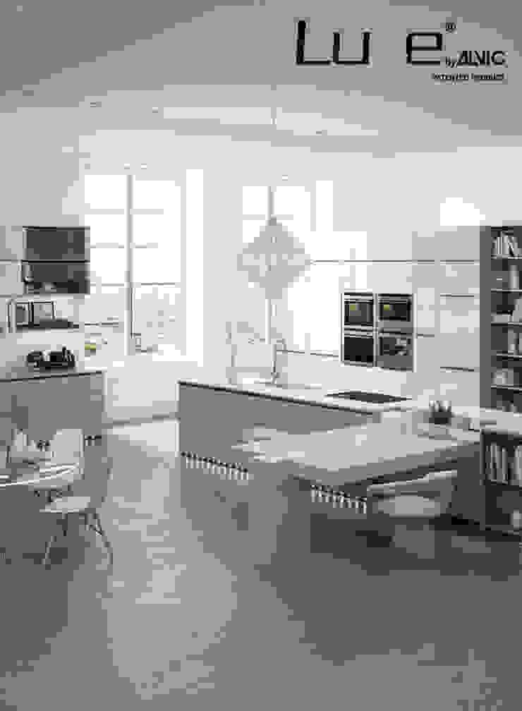 Cocina Syncron y alto brillo Luxe by Alvic. Cocinas de estilo rústico de ALVIC Rústico