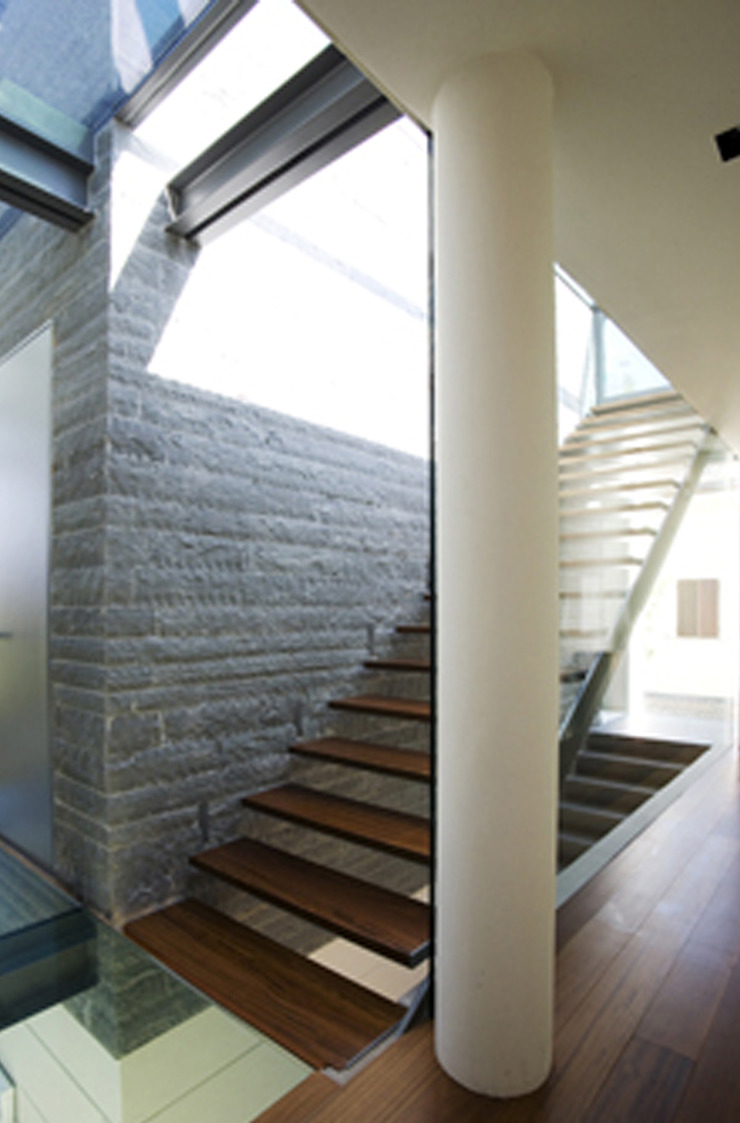 Corredores, halls e escadas modernos por NAT OFFICE - christian gasparini architect Moderno