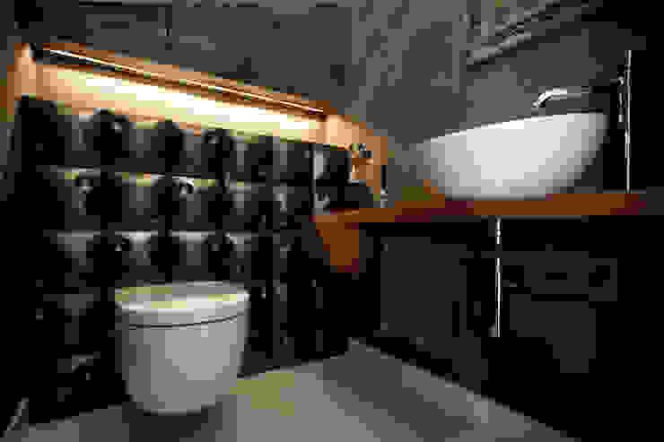 Mała łazienka : styl , w kategorii Łazienka zaprojektowany przez ARCHISSIMA,Nowoczesny