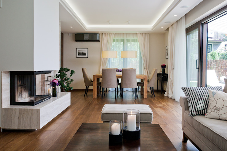 Dom w Krakowie : styl , w kategorii Salon zaprojektowany przez ARCHISSIMA,