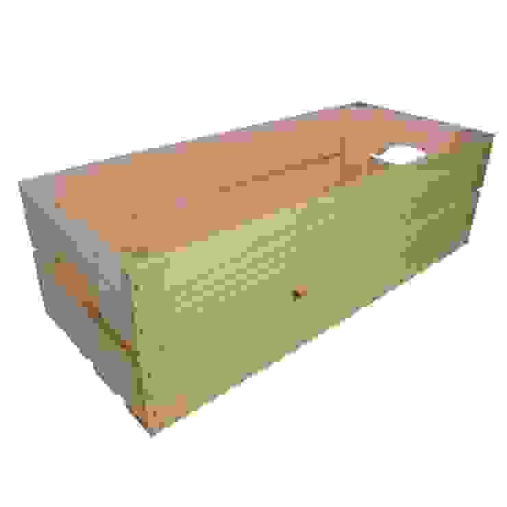 Caja rectangular rosa de Chicplace Rústico