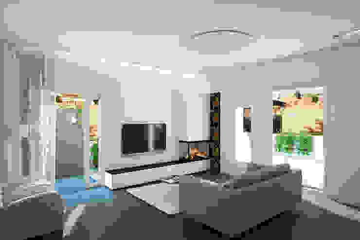 Визуализация квартиры в Риме Гостиная в стиле минимализм от ECOForma Минимализм