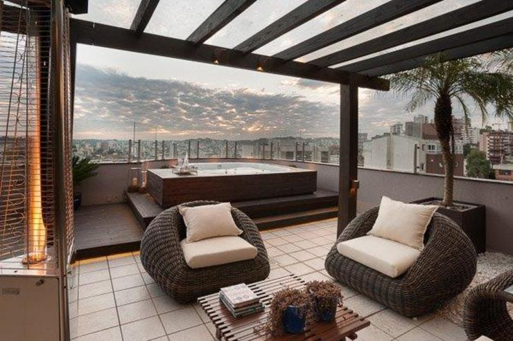 Terrasse de style  par Adriane Cesa Arquitetura, Moderne