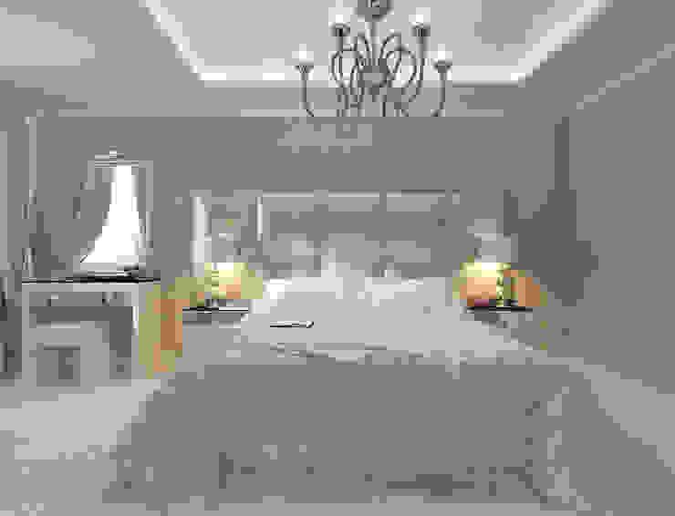 Лаконичный интерьер.: Спальни в . Автор – Tutto design, Эклектичный