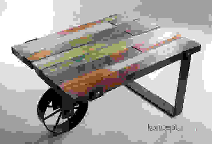 """Stół """"Taczka"""": styl , w kategorii  zaprojektowany przez Konceptdesign,Industrialny"""