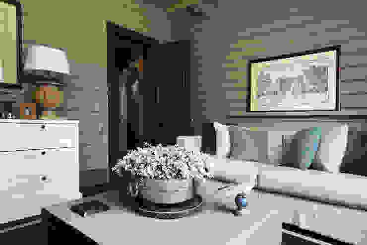 Дом из клееного бруса в Новоглаголево Гостиная в стиле модерн от Дизайн бюро Татьяны Алениной Модерн