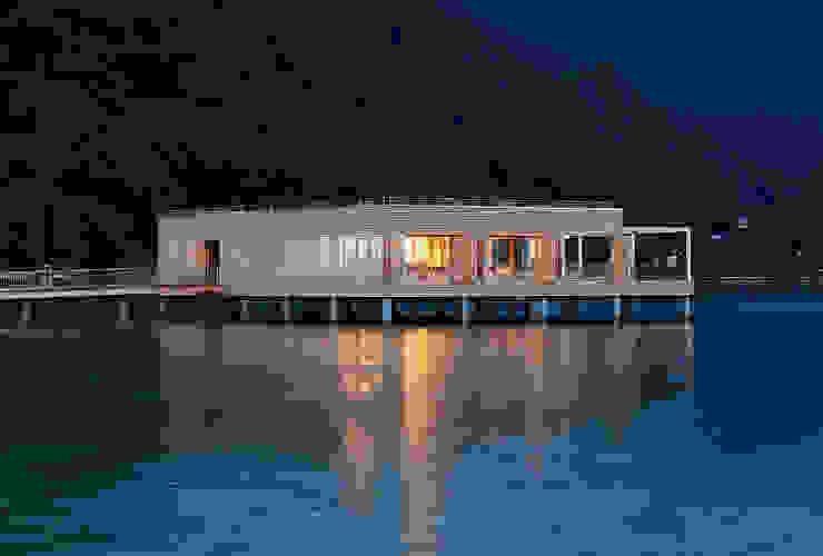 Badehaus am Kaiserstrand, Lochau-Bregenz Moderne Hotels von Lang + Schwärzler Architekturbüro Modern