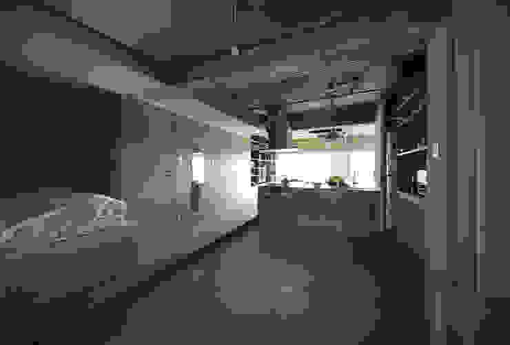 駒場・ROOM・S(KOMABA・ROOM・S) ミニマルデザインの キッチン の 吉田裕一建築設計事務所 ミニマル 木 木目調