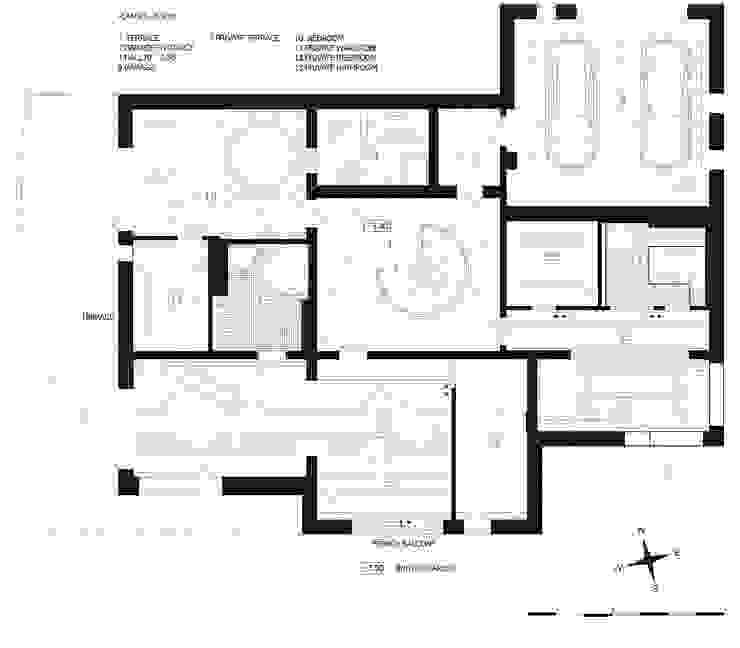 план второго этажа загородного дома (DZ)M Интеллектуальный Дизайн