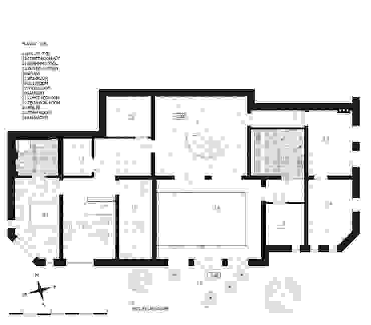 план первого этажа загородного дома (DZ)M Интеллектуальный Дизайн