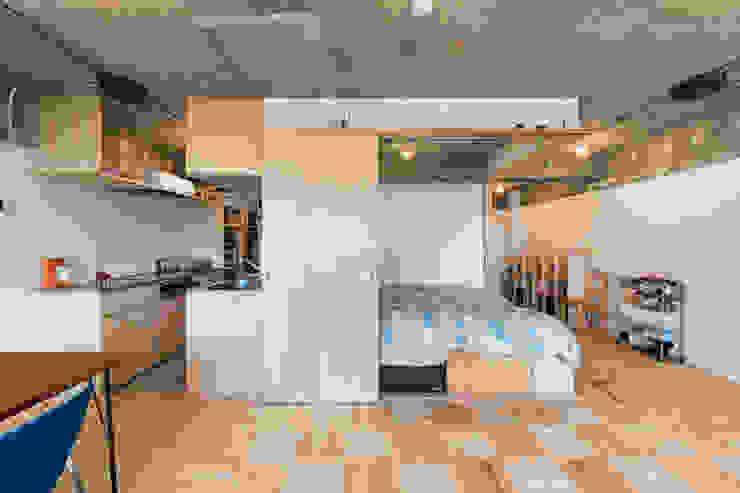 築地・ROOM・H(TSUKIJI・ROOM・H) モダンスタイルの寝室 の 吉田裕一建築設計事務所 モダン