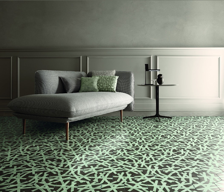 Bisazza Cementegels Moderne woonkamers van Badkamer & Tegels magazine Modern