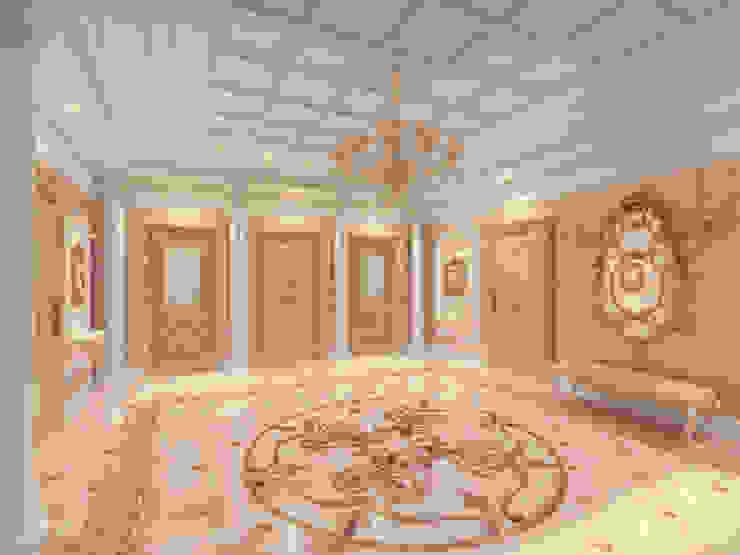 Особняк город Тобольск. Tutto design Коридор, прихожая и лестница в классическом стиле