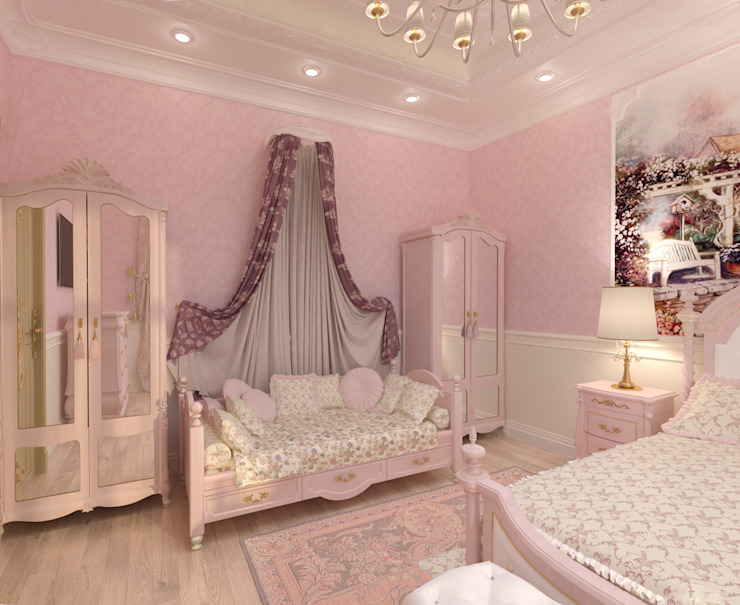 Особняк город Тобольск. Tutto design Детская комнатa в классическом стиле
