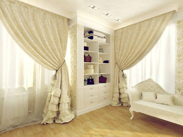 Classic style dressing room by Tutto design Classic